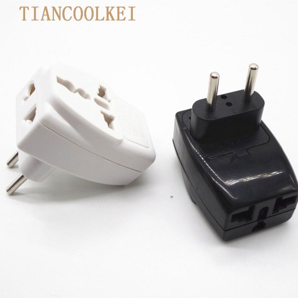European plug European Socket Converter to EU Russia High Quality International Travel Universal Adapter AC Electrical Plug
