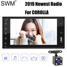 SWM 2 Din Car Radio 2din Stereo for Totyto COROLLA EX 12V 7 Bluetooth Coche Reversing Image Mirror Link Auto Fm Usb
