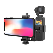 "Smatree OSMO Pocket Phone Holder Set Expansion Accessories with 1/4""Thread Screw for DJI OSMO Pocket and Smartphone"
