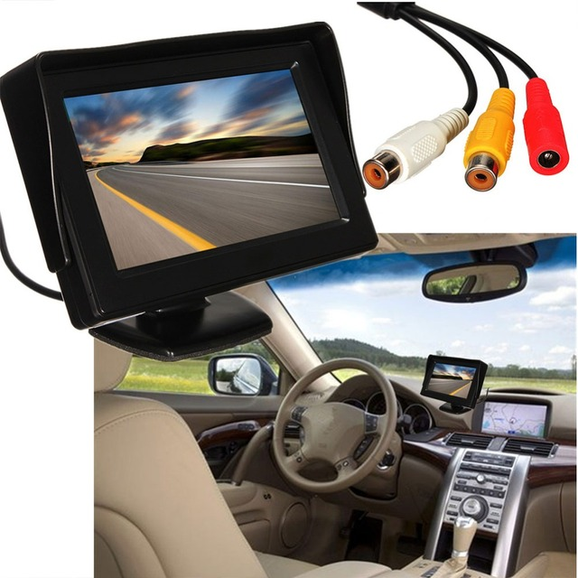 4.3 Inch Car Sun Visor LCD Rearview Monitor Display Two-Way Video Input Rearview Mirror Screen