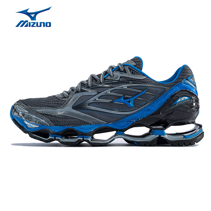 MIZUNO Men WAVE PROPHECY 6 Professional Jogging Running Shoes Breathable Sports Shoes Cushion Sneakers J1GC170026 XYP583 mizuno men rebula v3 ag professional cushion soccer shoes sports shoes comfort wide sneakers p1ga178603 yxz069