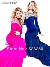 2016 Meerjungfrau Bodenlangen Gefrieste Open Back Blau Mode Abendkleid/Abendkleid/Kleider/Kleider H4060