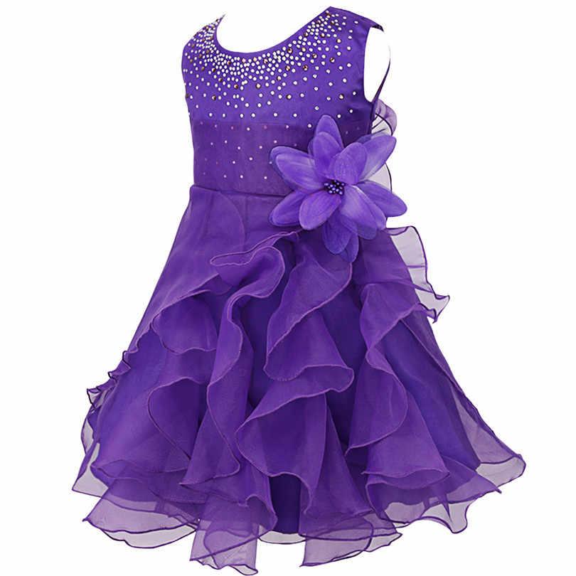 8 цветов, платье с цветочным узором для девочек, детские летние платья подружки невесты с вышивкой для девочек на свадьбу, выпускной вечер, вечерние Одежда для девочек