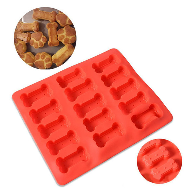 Silicone Food Grade Cake Mold Mats Puppy Dog Bones Silicone Baking Mold Biscuit High Qulity Hot Sale Dropshipping R30