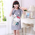 Cartoon Kids Sleepwear Princess Pajama Nightdress Cotton Baby Teenage Night Dress Children Nightgown Hello Kitty Girls Nightgown