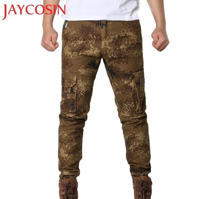 87e51d45b78 2018 Mens Army Trousers Multi-pockets Combat Zipper Cargo Waist Work Casual  Pants Dropshipping August 6