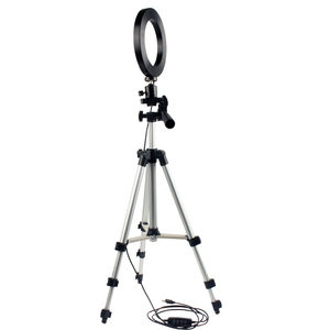 Image 4 - Dimmable LED Studio Camera Ring Light Photo Mobile Phone Video Annular Lamp Tripod Selfie Stick For Xiaomi iphone Canon Nikon
