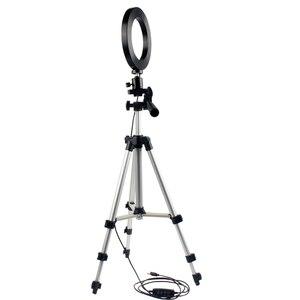 Image 4 - ניתן לעמעום LED סטודיו מצלמה טבעת אור צילום נייד טלפון וידאו טבעתי מנורת חצובה Selfie מקל לxiaomi iphone Canon ניקון