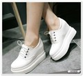 2015 women Autumn flat female shoes small yards 32 33 single shoes increased plus size 41 42  thick bottom lace-up loafers