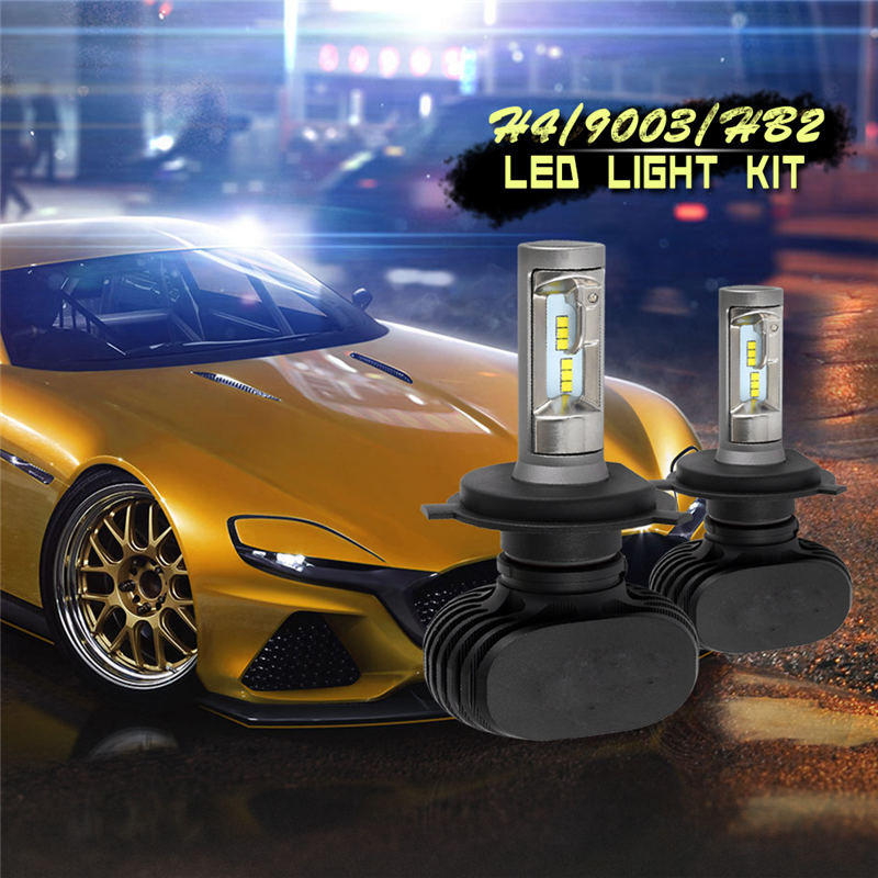 2PCS S1 Auto H3 H8 H11 H4 Led H7 Bulb Car Headlight High Low Beam 50W 8000LM 12V 9006 9005 Fog Light Kit Super Bright Car Lmap