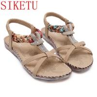 SIKETU Summer Stlyle Women Sandals Gladiator Sandals Women Bohemia Flat Shoes Sandalias Mujer Ladies Shoes New