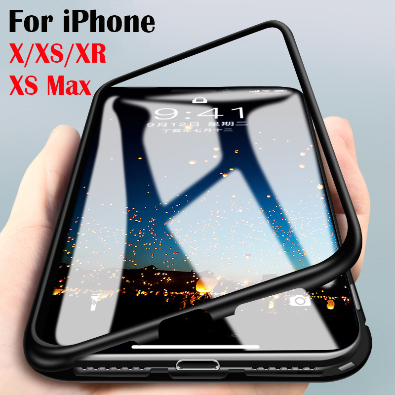 Magnetic case for iPhone xr for iPhone XS Max Folio Bumper