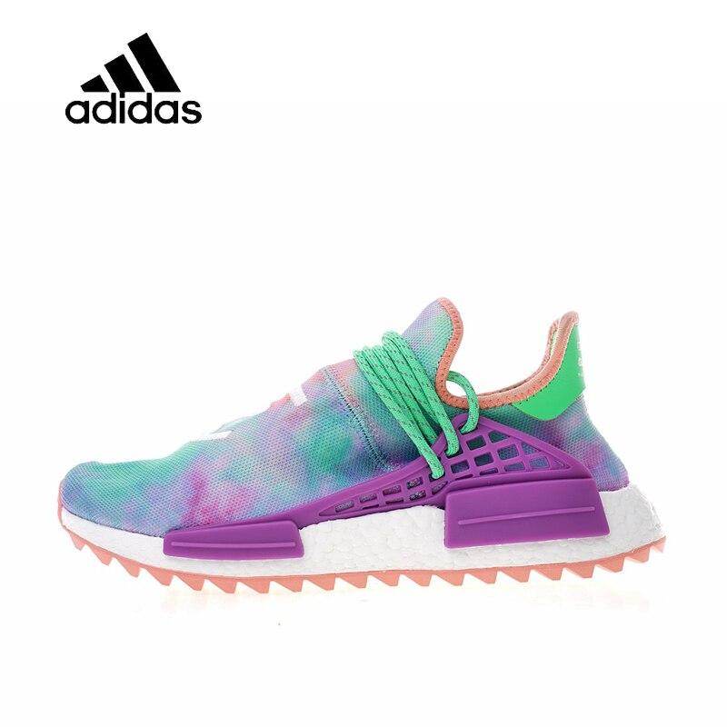 Original Nouvelle Arrivée Officielle Adidas Originals Hu Trail 'Holi Pack x PharrellMen et femmes Chaussures De Course Baskets AC7034