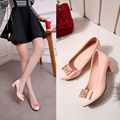 Fashion Ladies Pumps Patent Leather Pointed Toe Slip on Chunky Heels Bowknot Sequins Women Wedding Shoes Comfortable Dress Shoes