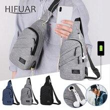 Мужские Водонепроницаемые сумки модные мужские сумки через плечо с интерфейсом модные спортивные сумки противоугонные