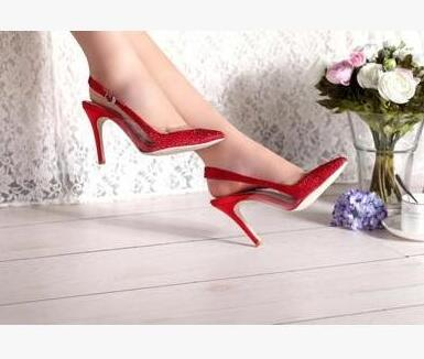 Hot Selling American and European Pointed Toe Special Sexy Thin and High Heels Ladies Party Dress Shoes 2017the mostfashion trends european and american brands genuine flowers ladies luxury short shoes club sexy women s shoes