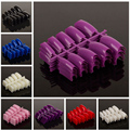 100pcs /packNewest  Fake Nails Faux Ongles  for Nail Art  French Acrylic False Nails 16 colors choose Beauty  Artificial Nail