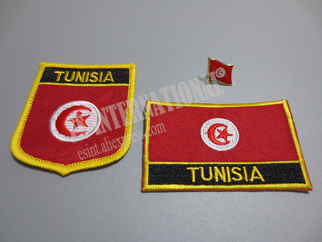 US $1 99  National Flag Embroidery Patches and Metal Flag Lapel Pin  TUNISIA-in Patches from Home & Garden on Aliexpress com   Alibaba Group