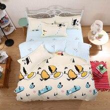 4 Pcs/Set Reactive Printing Bedding Set Super Soft Aloe Cotton Duvet Cover Flat Sheet Pillowcase Comforter Bed