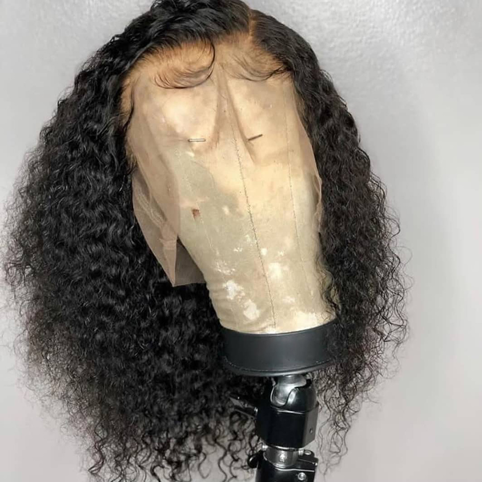 UEENLY Wig Lace-Front-Wigs Human-Hair Curly Kinky Brazilian Pre-Plucked 360 with Baby