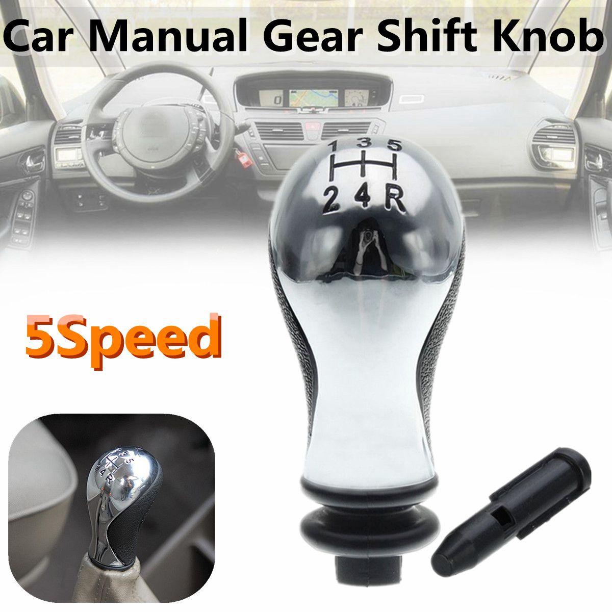 5 geschwindigkeit Auto Schaltknauf Shifter Knob Kopf Sleeve Adapter Hebel Für CITROEN XSARA PICASSO 1999-2010 C5 2001-2008