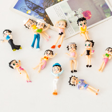 Beauty Girl Sexy Miniature Figurine Cartoon Character Anime garden Cake Decoration figures pvc action model doll toy TNS092