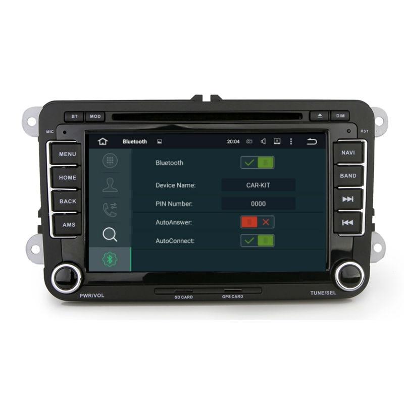 Aoluoya RAM 4GB 8-Core Android 8.0 CAR Radio DVD GPS Player For VW - Ավտոմեքենաների էլեկտրոնիկա - Լուսանկար 4