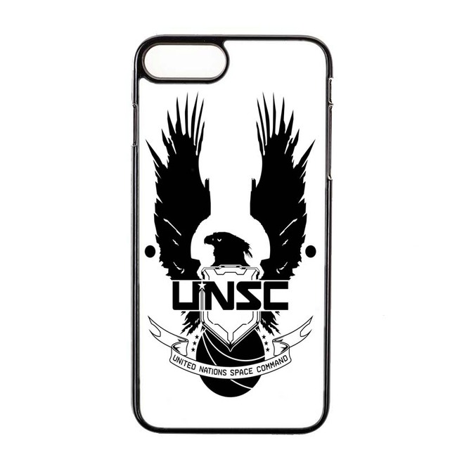 cool game for halo unsc logo cover case for ipod touch 5 6 iphone 4