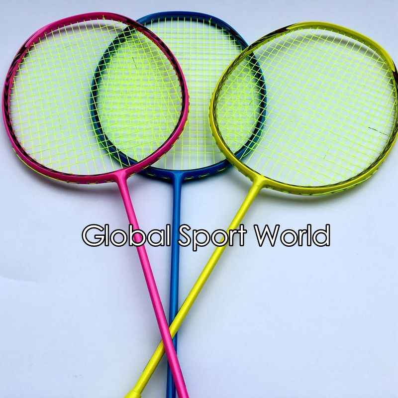FREE Shipping 1 pc N80 3D blade badminton rackets candy muti color badminton racquets 4U 82G