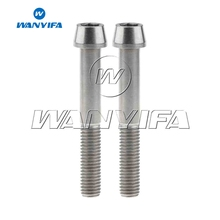 Wanyifa Titanium Ti M10x70mm 1.5 1.25mm Pitch Taper Head Bolt for Motorcycle Caliper 2pcs
