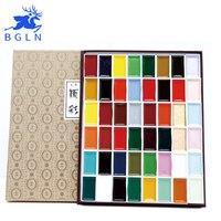 60 цветов однотонные акварельные краски в наборе пигмент супер качество Профессиональный Sumi-e Акварельная краска ing для Рисовальщик поставк...