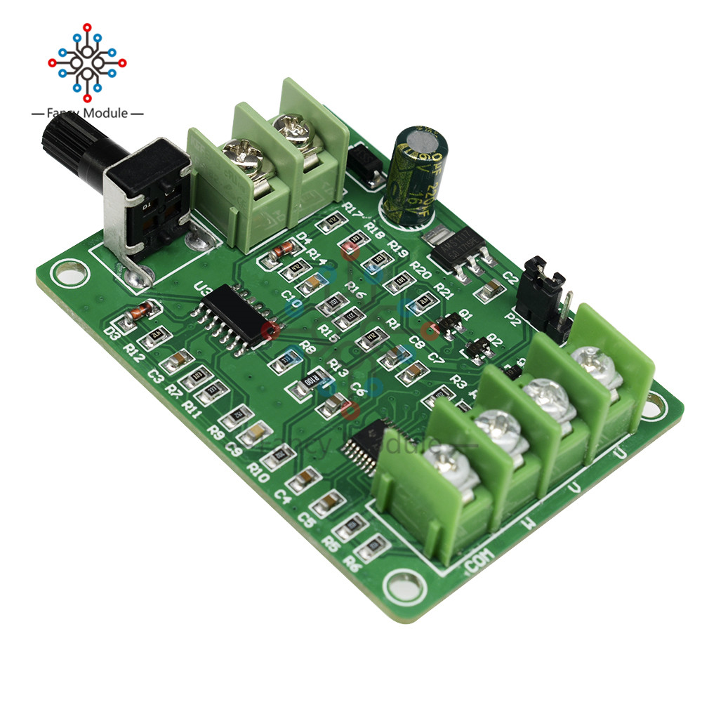 <font><b>5V</b></font>-<font><b>12V</b></font> <font><b>DC</b></font> <font><b>Brushless</b></font> <font><b>Driver</b></font> <font><b>Board</b></font> Controller For Hard Drive Motor 3/4 Wire with Reverse Voltage Over Current Protection image
