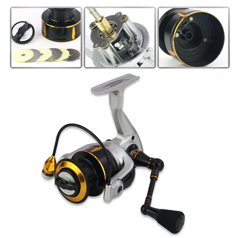 REELSKING KR Série moulinet de pêche matériel de pêche Bobine fil de pêche Spinning Machine Métal bras oscillant Sans Écart