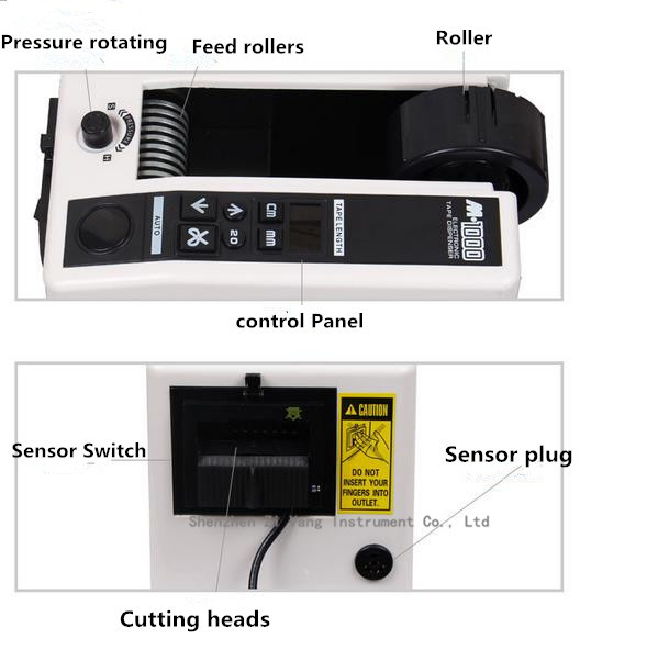 Automatic packing tape dispenser M-1000 Tape adhesive cutting cutter machine 220V Office Equipment