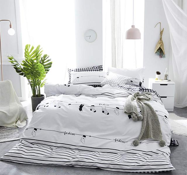 Character bedding set kid teen,twin full queen king cartoon cotton ...