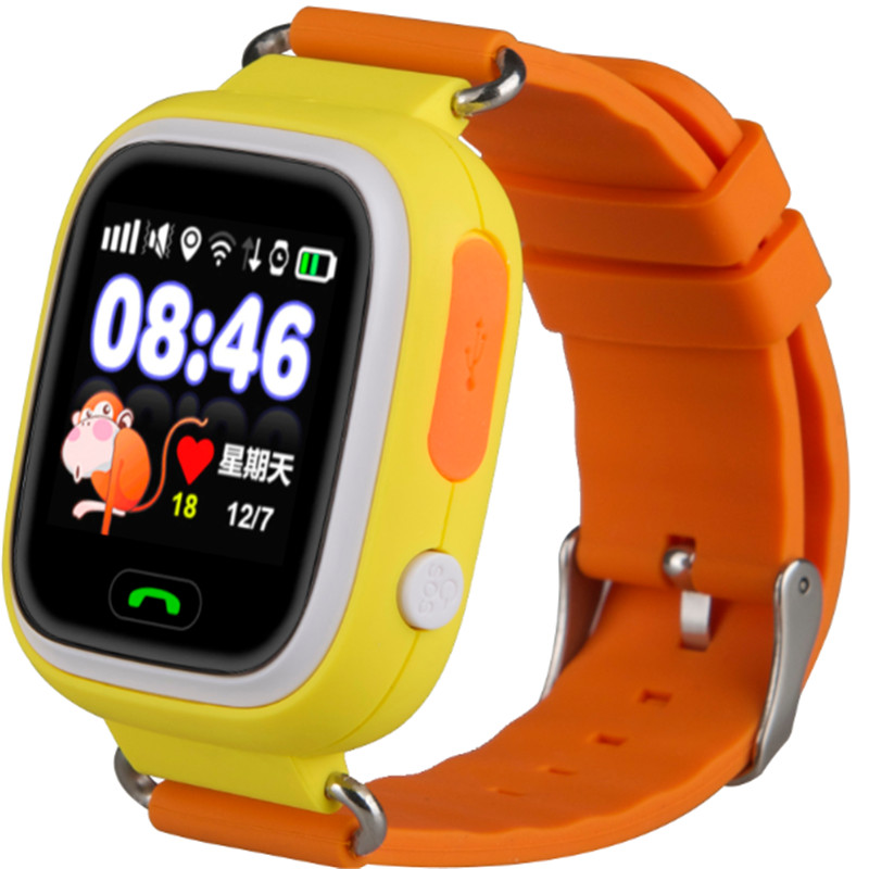 EgoCSM GPS smart watch baby watch Q90 with Wifi touch screen SOS Call Location DeviceTracker for Kid Safe Anti-Lost Monitor smart baby watch каркам q60 голубые