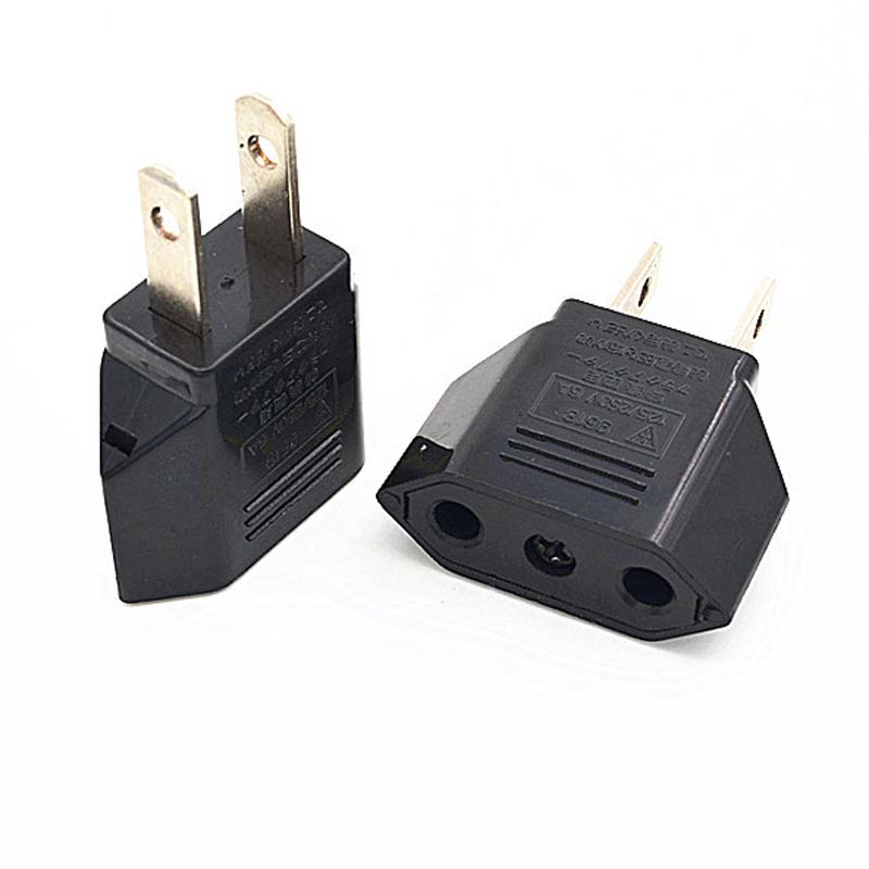 1PCS 6A Universal Travel Power Plug Adapter EU EURO to US USA Adaptor Converter AC Power Plug Adaptor Connector US TO EU UM