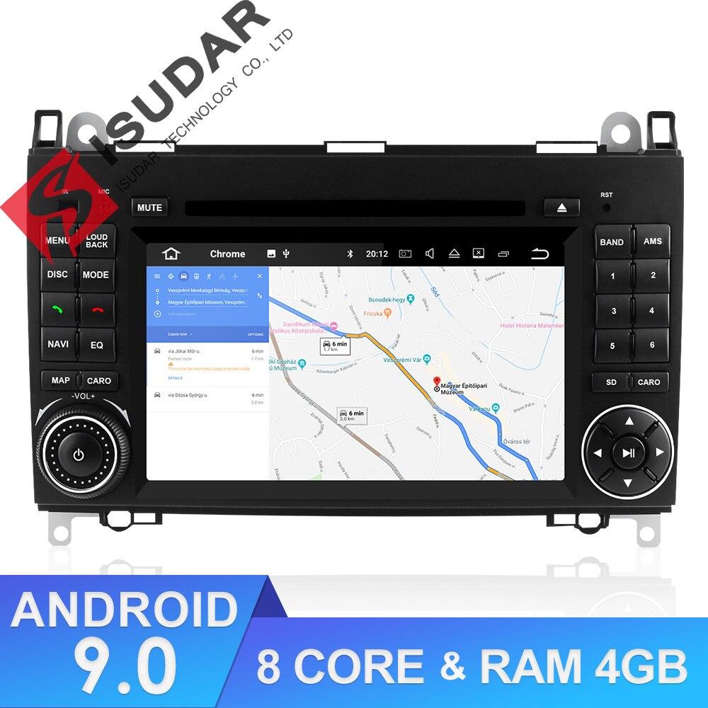 Isudar lecteur multimédia de voiture 2 din Android 9 système stéréo pour Mercedes/Benz/Sprinter/W169/B200/b-class autoradio DVD GPS DSP FM
