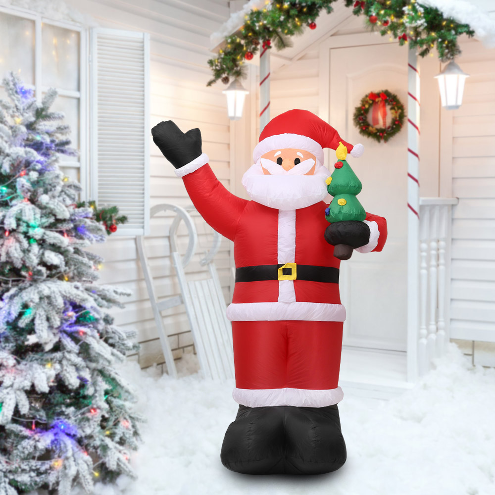 bodacious inflatable santa claus home outdoor decor 2018 happy yard decorations ornaments new year hot sale