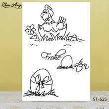 ZhuoAng New Easter Egg Design Transparent Postcard / Seal DIY Scrapbook Album Decoration Card Making Clear Stamp
