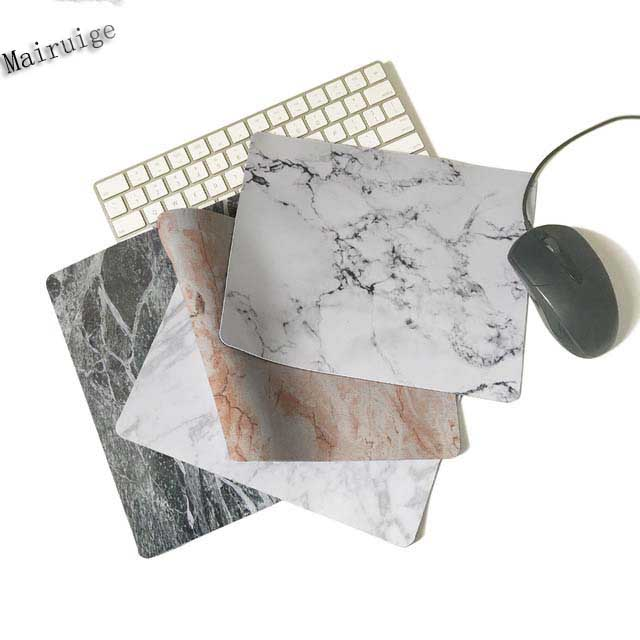 Mairuige New Arrival White Marble Of The 180x220x2 Or 250x290x2mm  Silicon Gaming Mat  Printing Mouse Pad Soft Rubber Mat