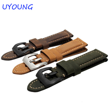 Quality Genuine Leather Watchband For Garmin Fenix 3 26mm Mens Leather Watch band Black Brown Smart watches accessories
