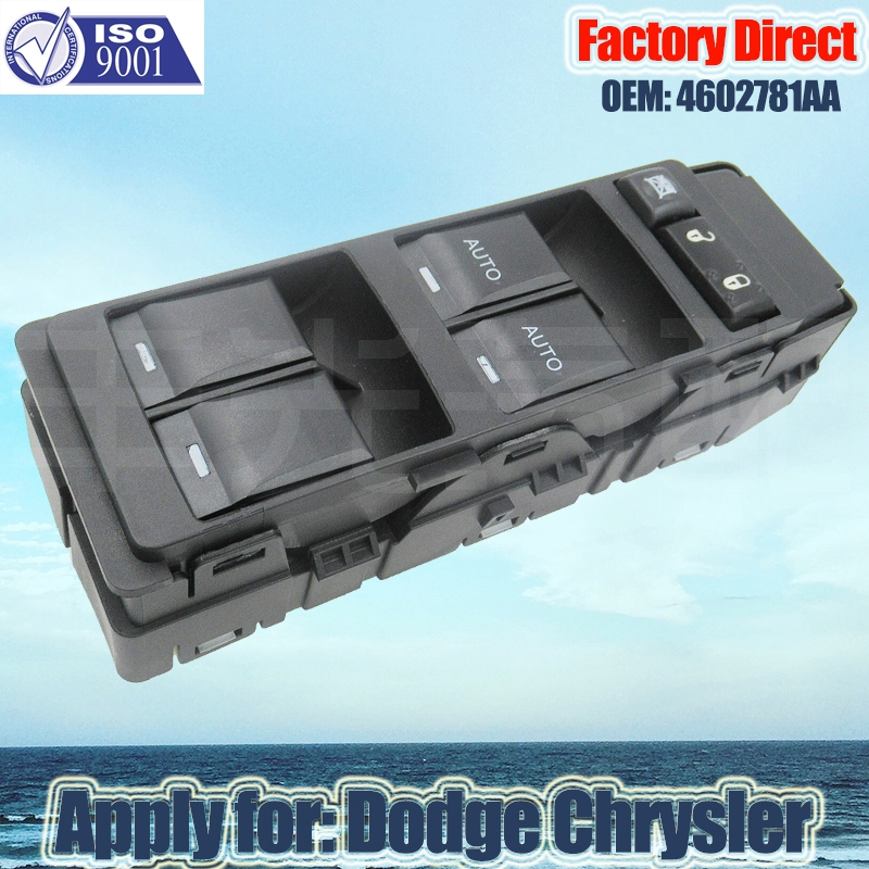 Factory Direct LHD Auto Master Power Window Switch apply for Jeep Chrysler Dodge 4602781AA 14Pins Left Driver Side