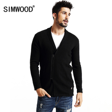 SIMWOOD brand 2016 new autumn winter  zipper long  cardigan men  fashion sweater  knitwear coats MY2042