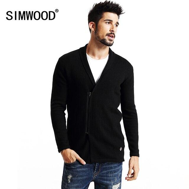 SIMWOOD brand 2016 new autumn winter  zipper long  cardigan men  fashion sweater  knitwear coats MY2042