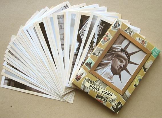 Image 2 - 7packs/lot Students DIY Cards 32Pcs/set NEW Vintage architectural landscape travel card set Postcard set Greeting Card Gift Card-in Business Cards from Office & School Supplies