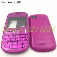 Good quality For Nokia 200 New Full Complete   Mobile     Phone     Housing   Cover Case+Enlish Or Arabic Keypad With Logo