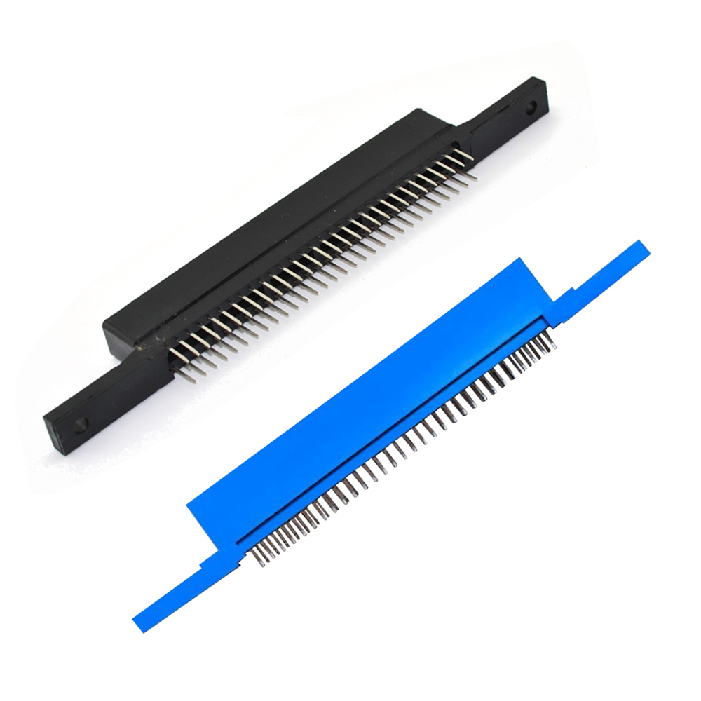 High quality blue <font><b>60pins</b></font> 60 pin Pin Game cartridge adapter card slot <font><b>connector</b></font> for FC clone console image