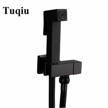 Toilet Bidet Faucet square black Single Cold Bathroom Toilet Shower Blow-fed Spray Gun Nozzle Bidet Faucet Bathroom Hardware - DISCOUNT ITEM  46% OFF All Category