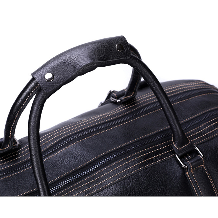 c5786a930c35 genuine leather big travel bags large capacity handbags tote 100% really  cowhide leather duffle bag luxury brand shoulder bags-in Travel Bags from  Luggage ...